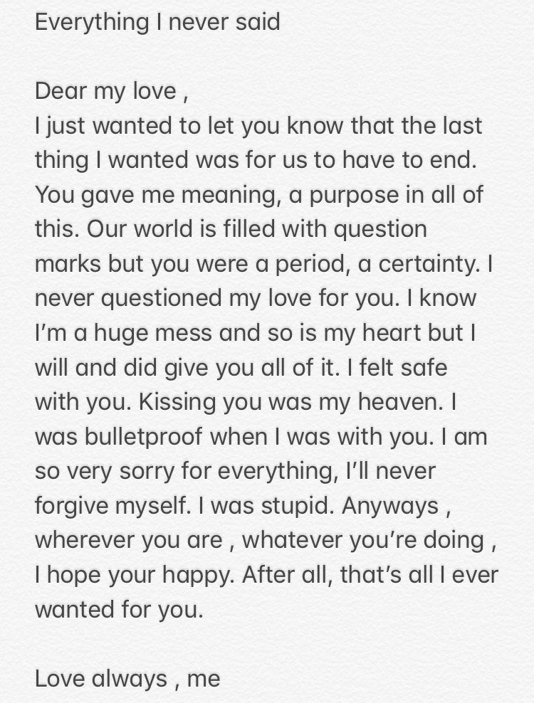 lost love messages