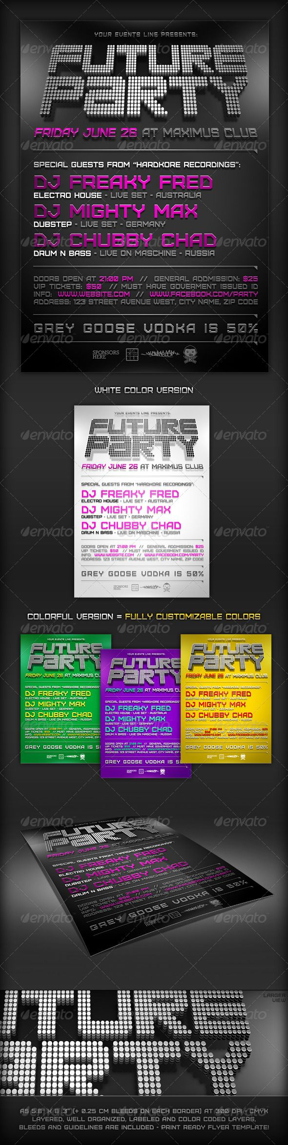 Minimal Future Flyer Template | Flyer template, Minimal and Template