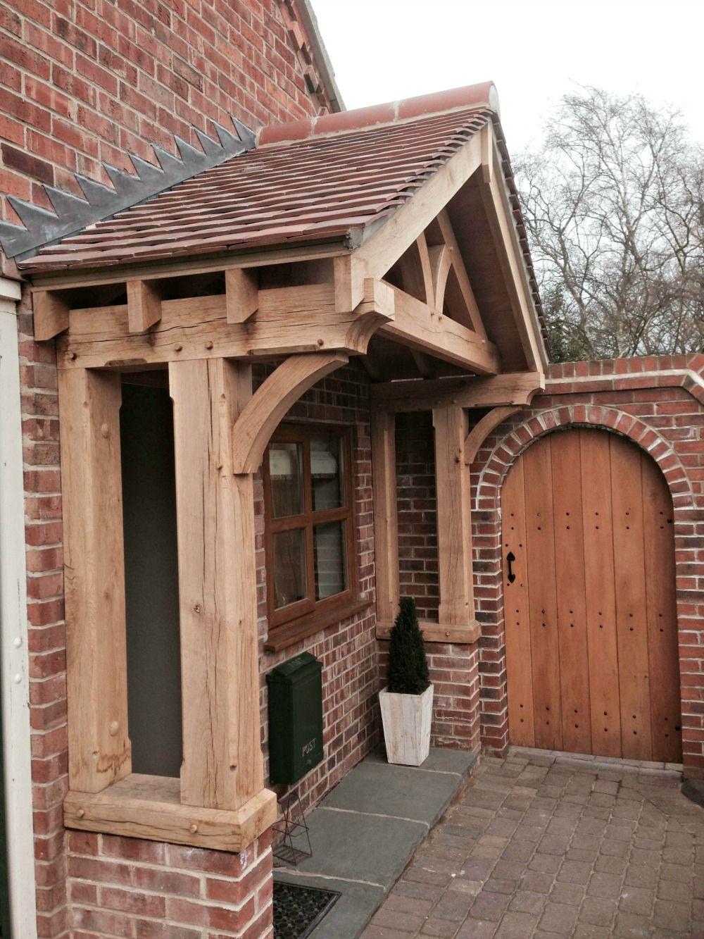 Green oak porch • Old English Doors   Building a porch ...