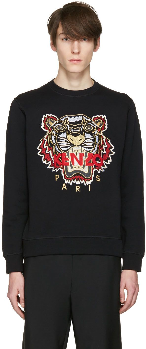 205€ Kenzo - Pull à tigre noir Chinese New Year