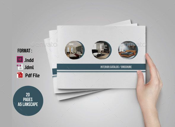This is one of the great catalog design with simple, clean and - interior design brochure template