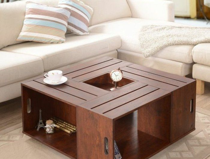 1 Jolie Table Basse Salon Design En Bois Pour Le Salon Moderne Table Basse Carre Table Basse Wenge Coffee Table Crate Coffee Table Home Decor