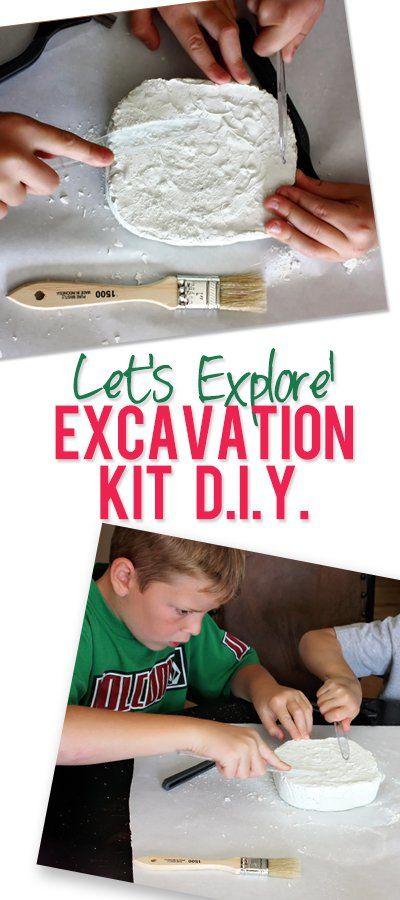 Excavation Kit DIY   Dinosaur fun   Diy kits, Diy for kids