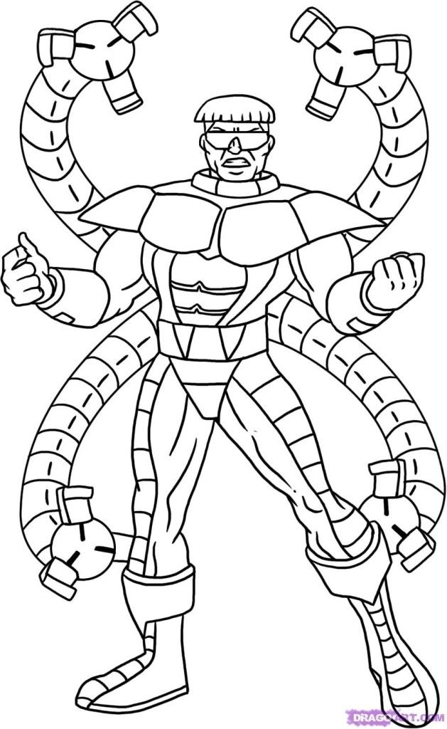 Marvel Octopus Coloring Pages Coloring Pages Marvel Coloring