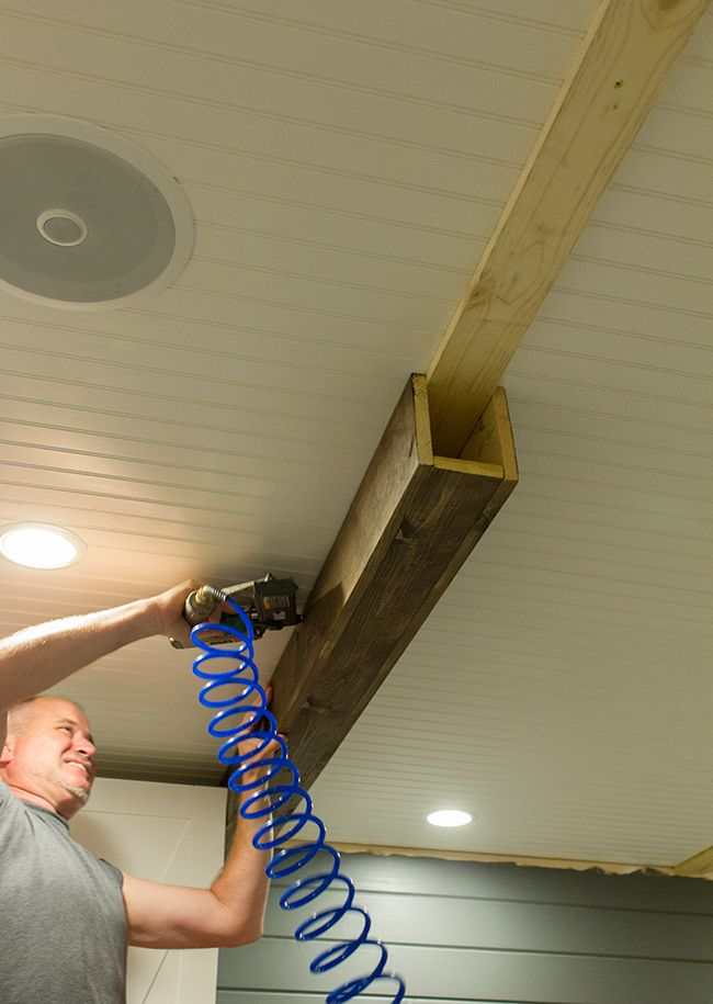 Master Makeover Diy Wood Beams Diy Makeover Faux Beams Home Diy