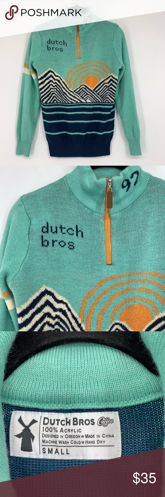 Dutch Bros Coffee Pullover 1/2 Zip Sweater Dutch Bros Coffee pullover 1/2 zip sweater with mountain sunrise theme. Gently used, please see photos.   Womens size small dutch bros Sweaters #dutchbros Dutch Bros Coffee Pullover 1/2 Zip Sweater Dutch Bros Coffee pullover 1/2 zip sweater with mountain sunrise theme. Gently used, please see photos.   Womens size small dutch bros Sweaters #dutchbros Dutch Bros Coffee Pullover 1/2 Zip Sweater Dutch Bros Coffee pullover 1/2 zip sweater with mountain sunr #dutchbros