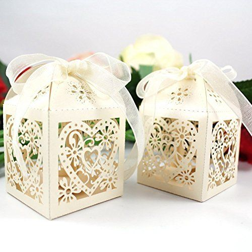 Decorative Food Boxes Driewwedding Gift Boxes Set Of 50 Easy To Assemble Wedding Favors