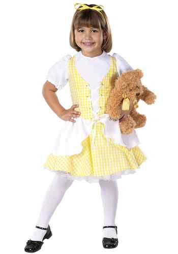 goldilocks girls halloween costume yellow dress fancy deluxe three bears child - Halloween Costumes Three Girls