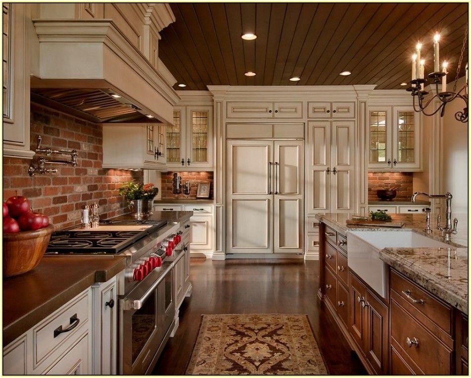 Kitchen: Brick Backsplash Kitchen ~ Home Interior Design Photos ...
