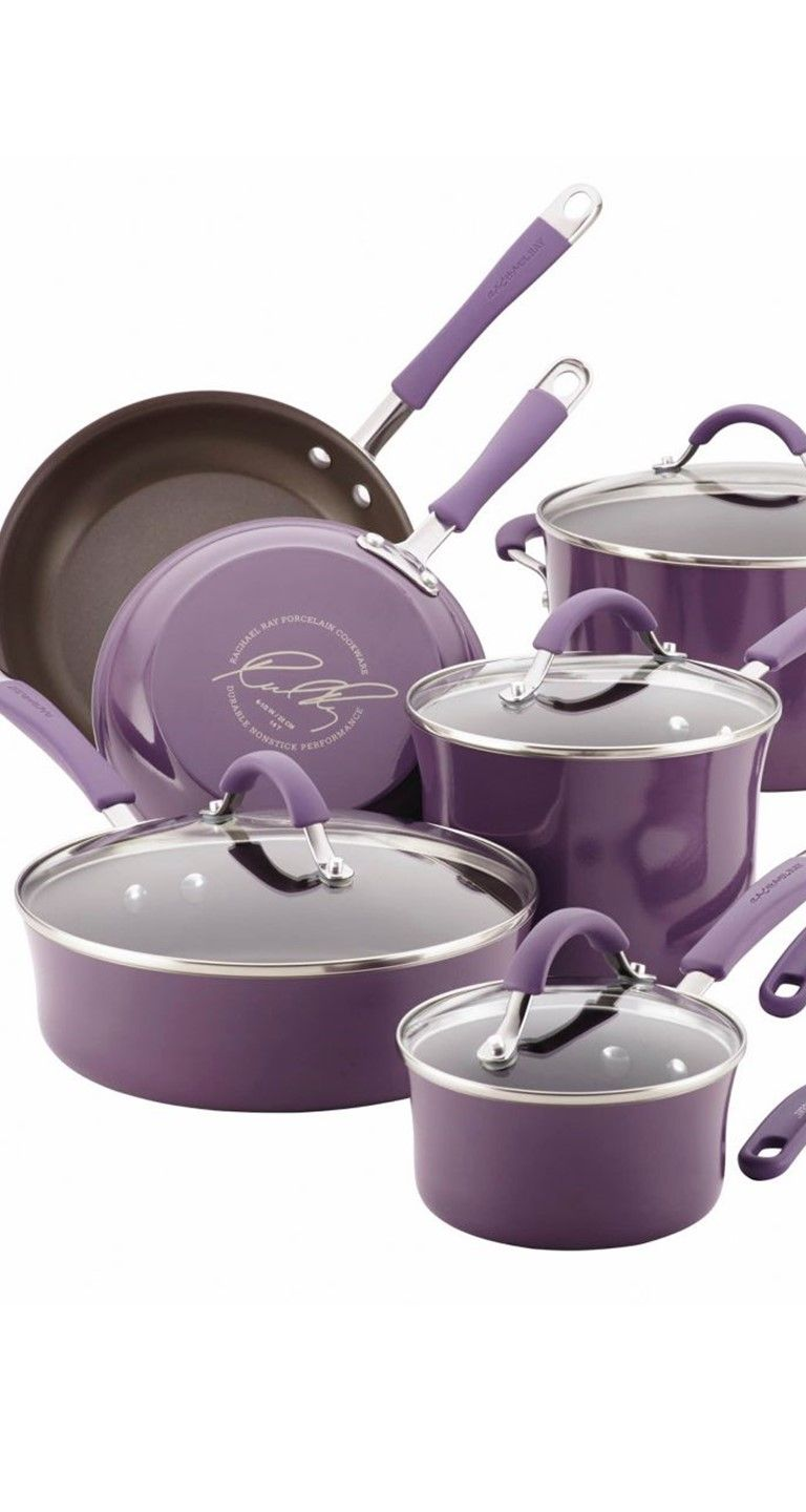 This Lavender Rachael Ray Cookware Set Is The Perfect Pop