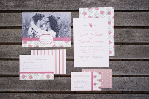 Floral Wedding Invitation Pack by BlossomTreeDesigns on Etsy