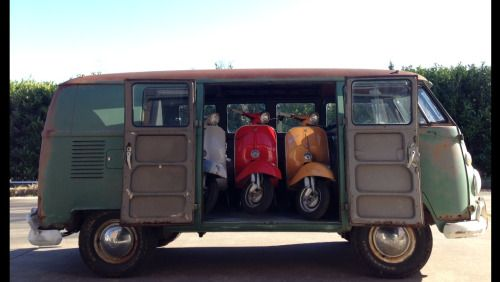 VW T1 and Vespa's