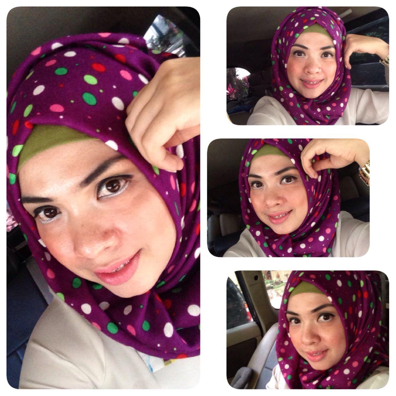 Hijab Motif Inspirasi Hijab Untuk Tubuh Mungil Pinterest Hijabs