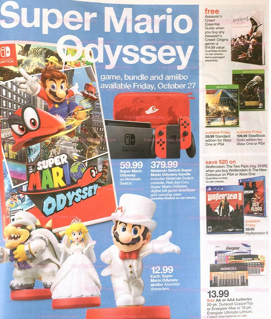 18fb191685 Target is really pushing Super Mario Odyssey Despite AC:O and Wolfenstien  II launching the same day!