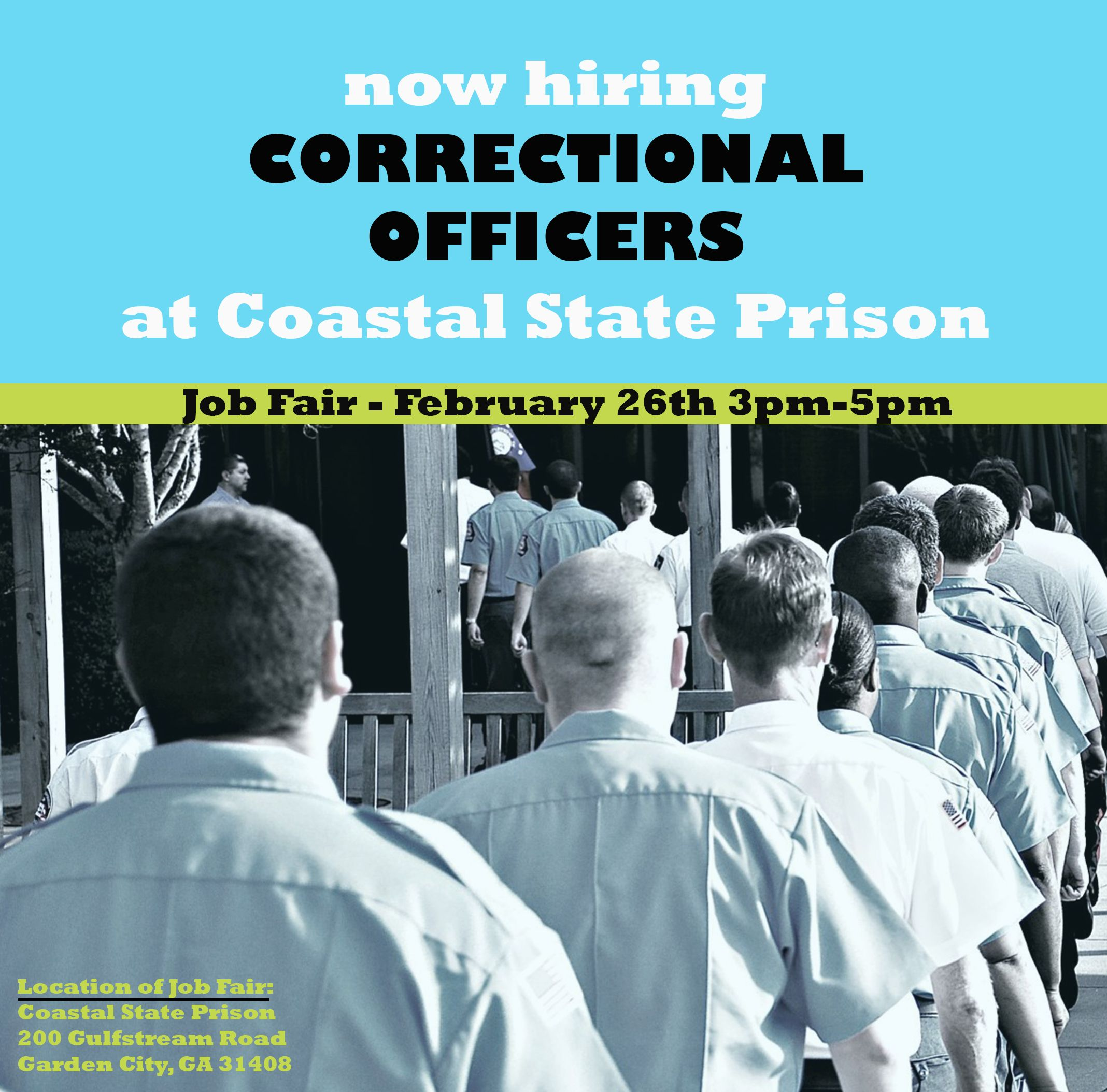 Coastal State Prison Is Hosting A Job Fair On February Th From