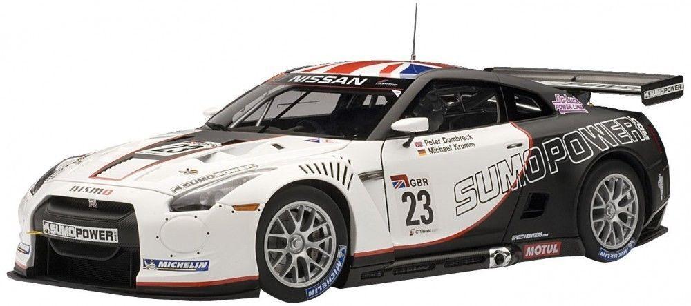 F S Autoart Nissan Gt R Fia Gt1 World Championship 2010 Sumo Power Gt 23 1 18 Nissan Gt R Autoart Diecast Gtr