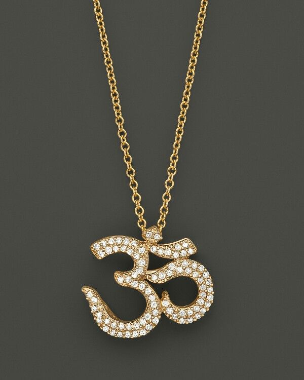 Pin by vandana gupta on simple jewellery designs pinterest om diamond ohm pendant in yellow gold ct mozeypictures Image collections
