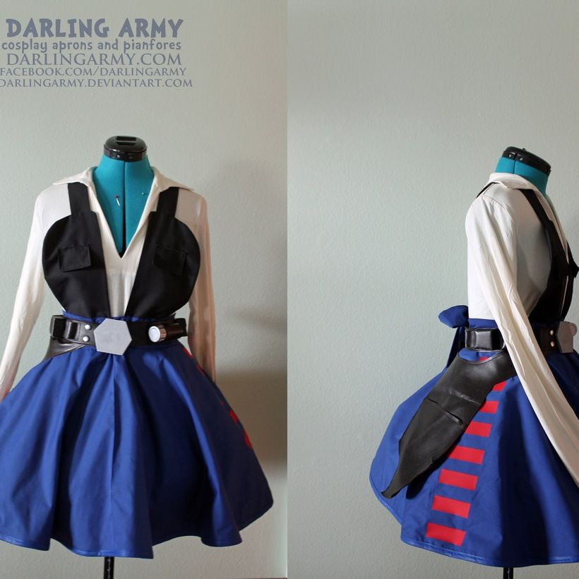 Han Solo Femme Star Wars Cosplay Pinafore Dress Accessory Girl Female | Darling Army