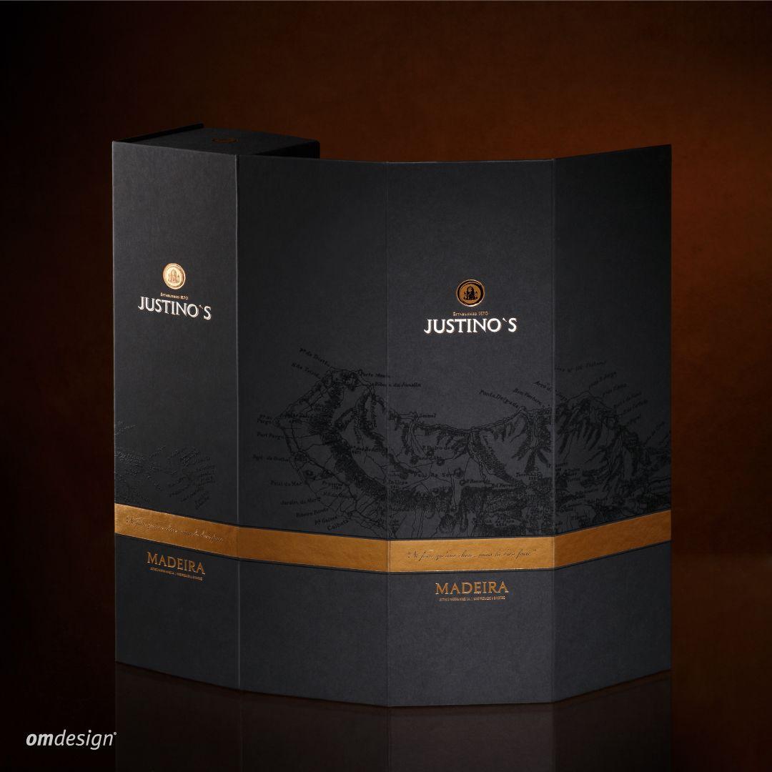 Packaging premium Justino's Madeira Wines (2016)  #Omdesign #Design #Portugal #LeçadaPalmeira #Since1998 #AwardedAgency #DesignAwards #WinePackaging #PackagingDesign #Justinos #JustinosMadeiraWines #VinhodaMadeira #MadeiraWine #IVBAM #PortugueseWines #Awards
