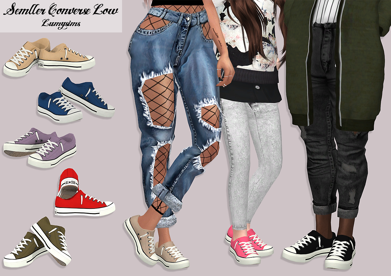 "lumysims: "" semller converse low all 25 swatches for adult/elder"
