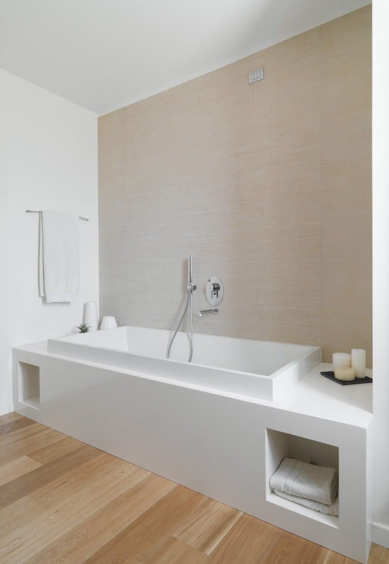 Am House By Sanson Architetti Beige Bathroom Modern Bathroom Bathroom Design