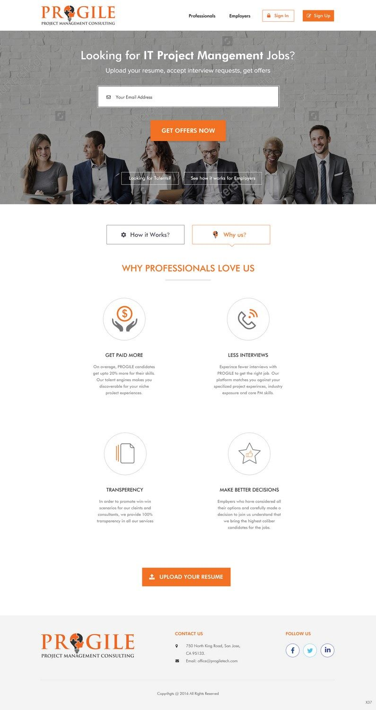 77 Professional Web Designs Management Consulting Web Design Project For Progile Tech Inc Web Design Web Design Projects Professional Web Design