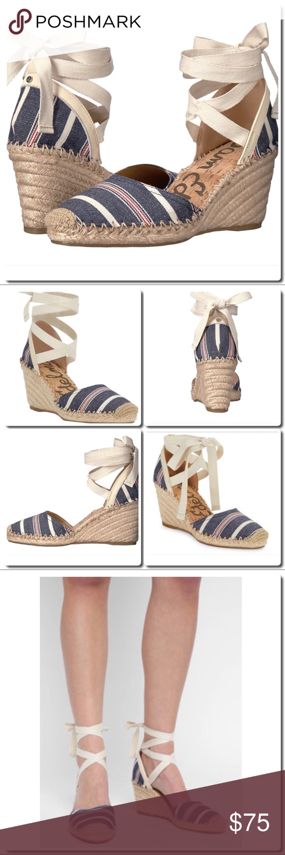 976124978 Sam Edelman Lace Up Espadrilles Super cute and ready for spring dressing