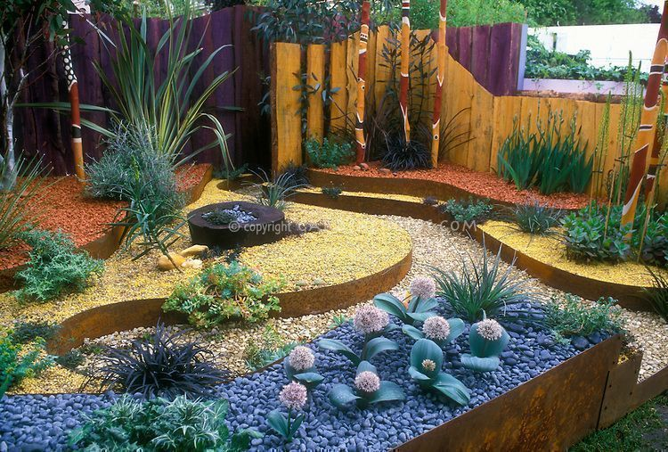 Dry Gardening with an Australian theme Landscaping