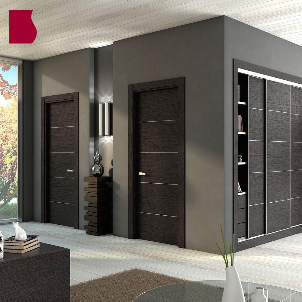 Serie contempor nea modelo al8005 en 2019 colecci n for Puertas de madera interiores modernas