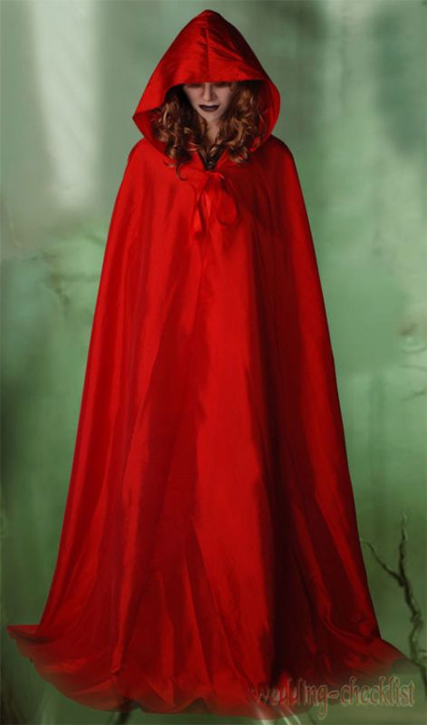 83d0ee6374 Gothic Little Red Riding Hood Costume Partywear Adult Womens Cloak ...