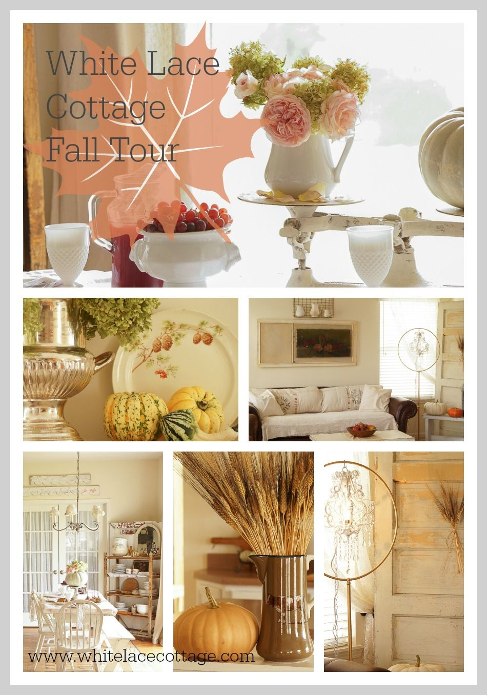 Adding Fall Decorations To Your Home   White Lace Cottage