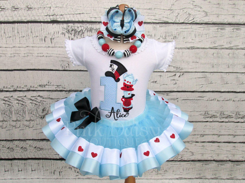 Alice in Wonderland Birthday Outfit - Alice in ONEderland Tutu ...