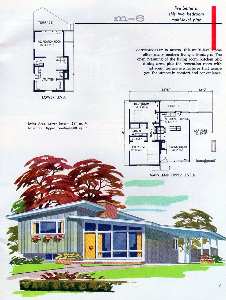 All Sizes Wf Rosser Lumber Co Plan M 6 Flickr Photo Sharing Vintage House Plans Mid Century Modern House Plans How To Plan