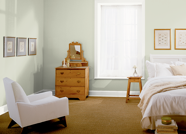 Upstairs spare bedroom color behr mountain haze with for Spare bedroom paint color ideas