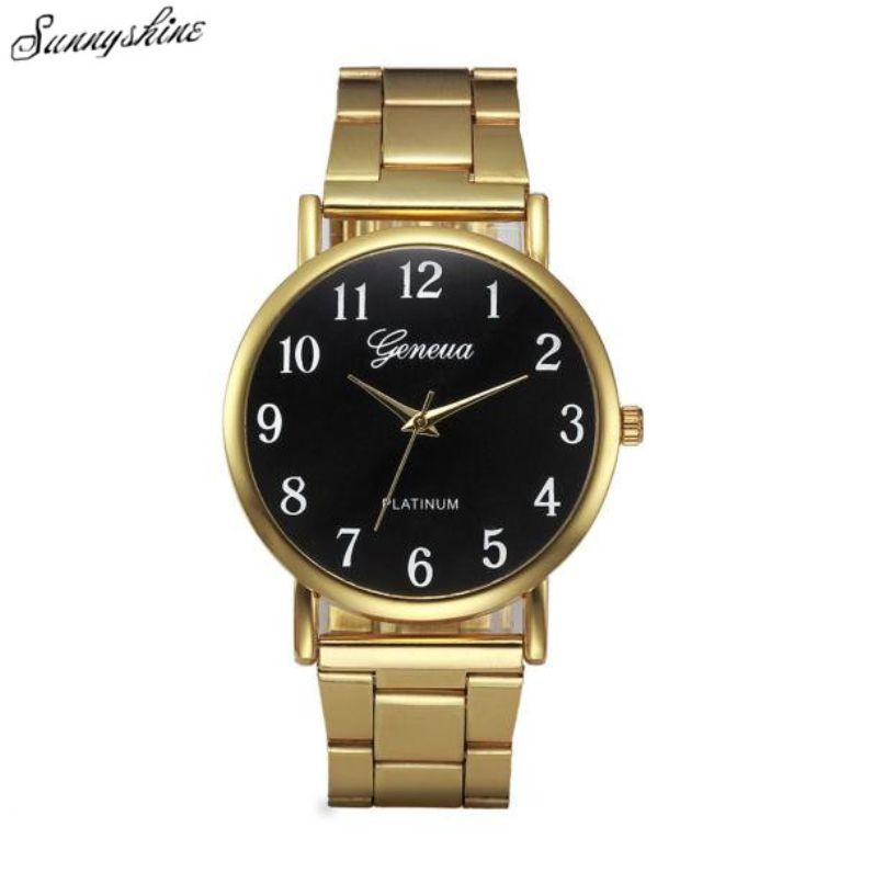 f9f8007983ef Click to Buy    Fashion Women Watches Crystal Stainless Steel Clock Analog  Quartz