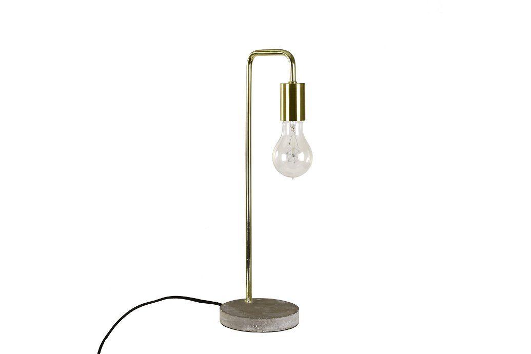 Edet Bordlampe MessingCement | Trademax.dk (med billeder
