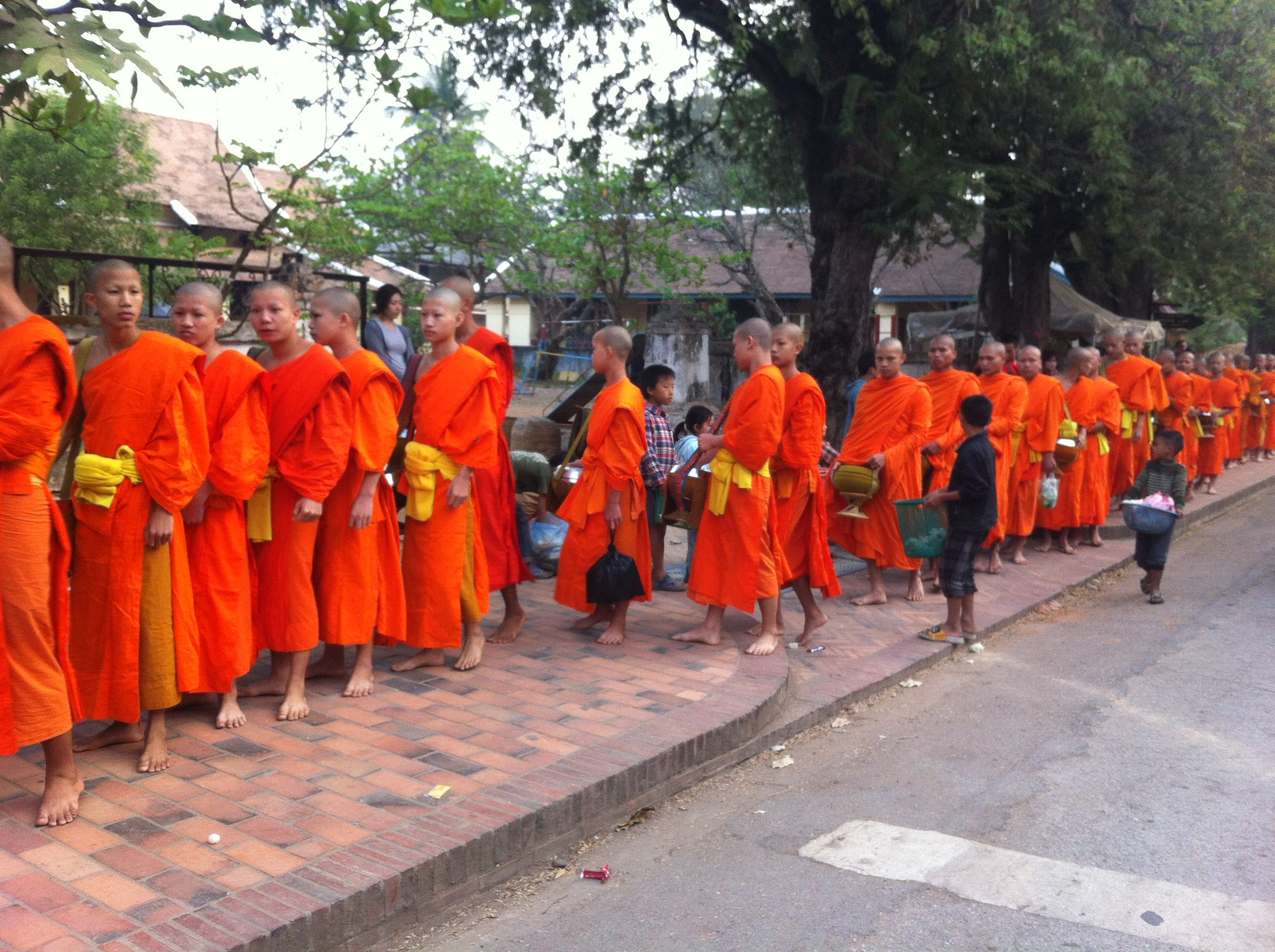 Up before day break in Luang Prabang to give offerings to the Monks.  Part of my 2013 South East Asia trip.