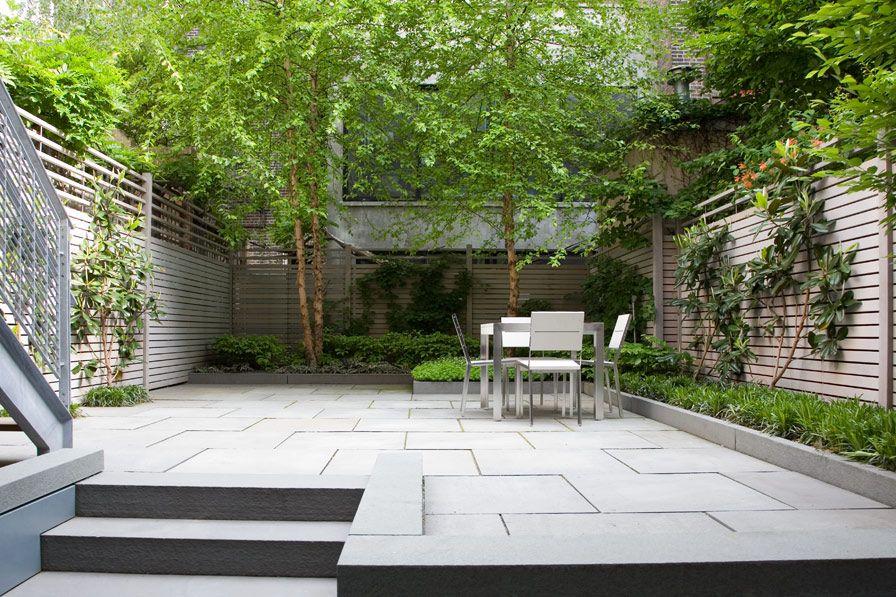 bluestone and green garden robin key landscape architecture landscape design new york