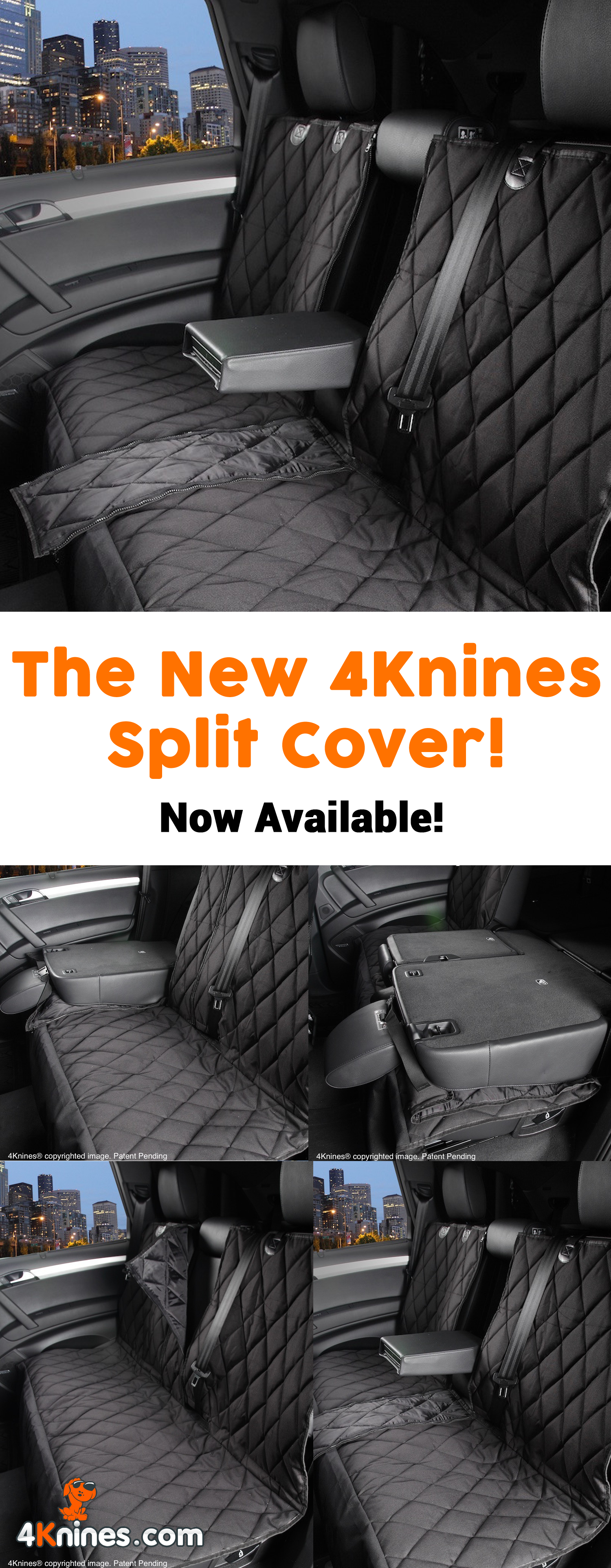 4Knines Split Seat Covers For Dogs And Pets Allows Use Of A 60 40
