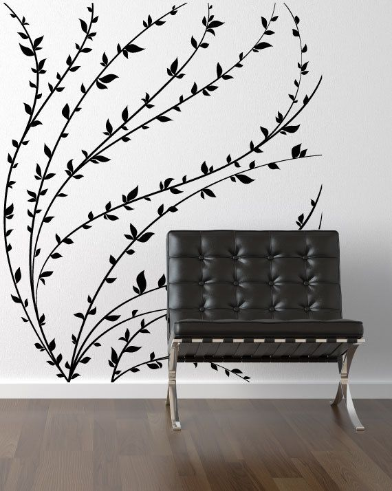 Vinyl Wall Decal Branch Wall Art Silhouette By ModernWallDecal - How to make vinyl wall decals with silhouette cameo