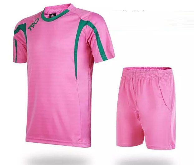 2a584d6b3 Soccer Jerseys Cheap-T90 Pink Training Blank Uniform  3155