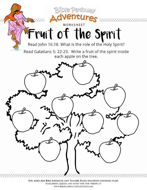 Free Bible Worksheet Fruit Of The Spirit Bible Study For Kids