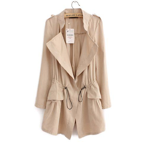 New Womens Slim Casual Coat Long Sleeve Trench Coat Stand Collar Outerwear (Beige) Fancy Dress Store http://www.amazon.com/dp/B00DJ3OH7M/ref=cm_sw_r_pi_dp_Qe9Qtb10VRQ87EAY