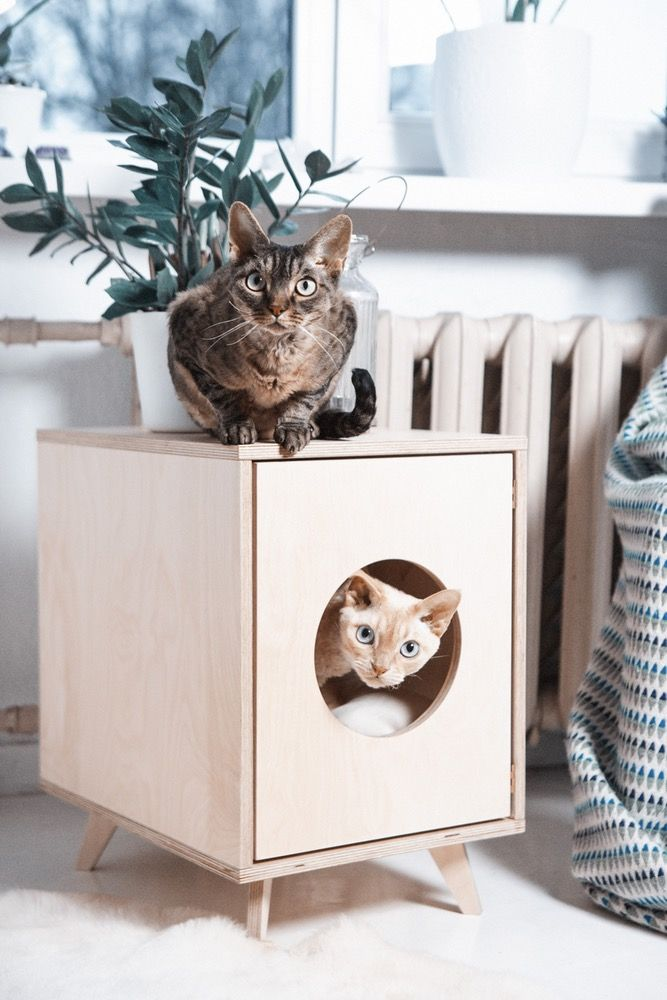 Image of Cat Litter Box Cover - Pet House \