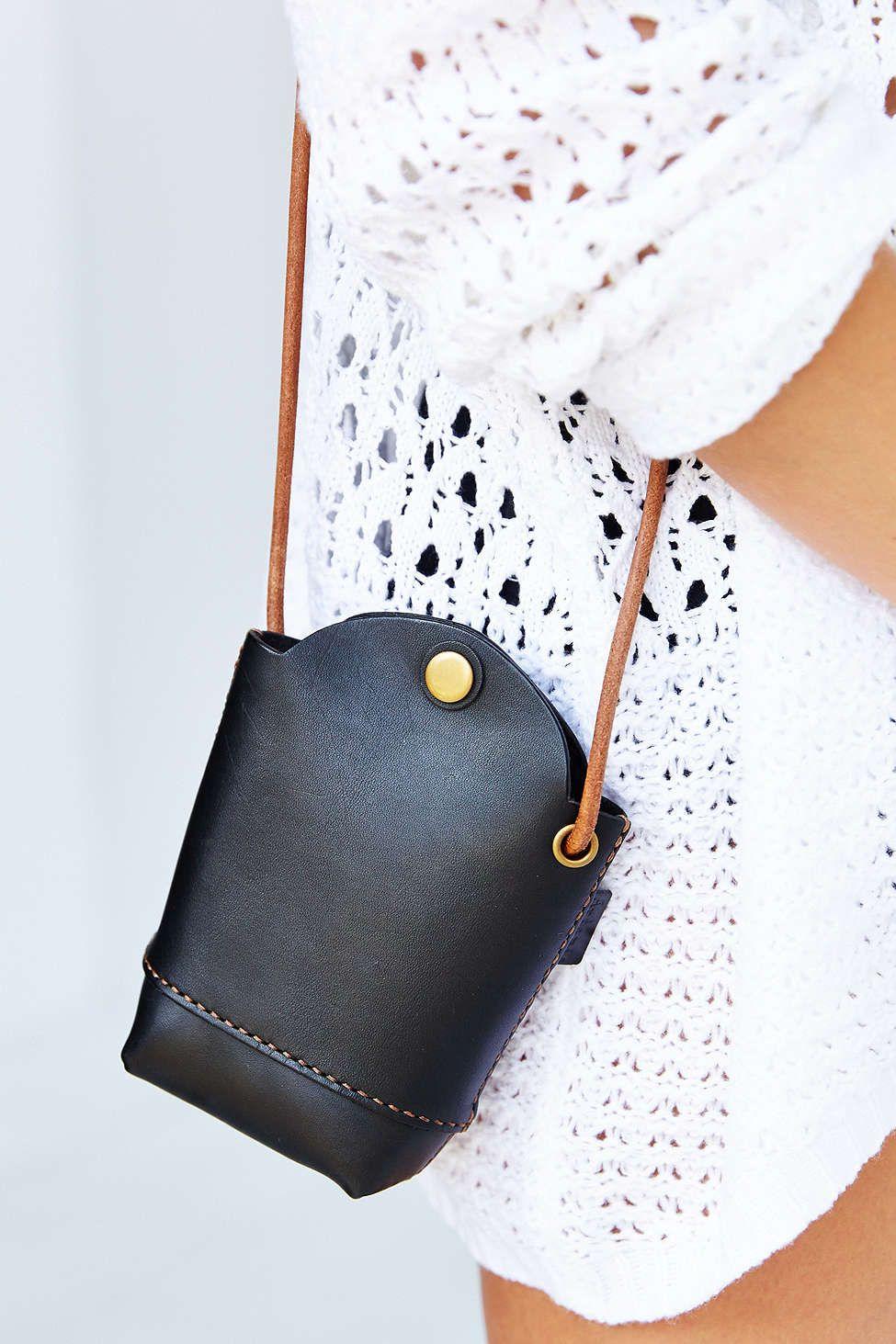 Black Artemis Leather Shoulder Pouch Handbag @ Urban Outfitters $60