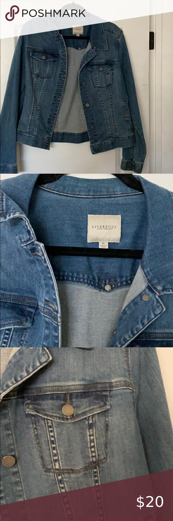 Liverpool Jean Jacket Liverpool Jeans Jean Jacket Jackets [ 1740 x 580 Pixel ]