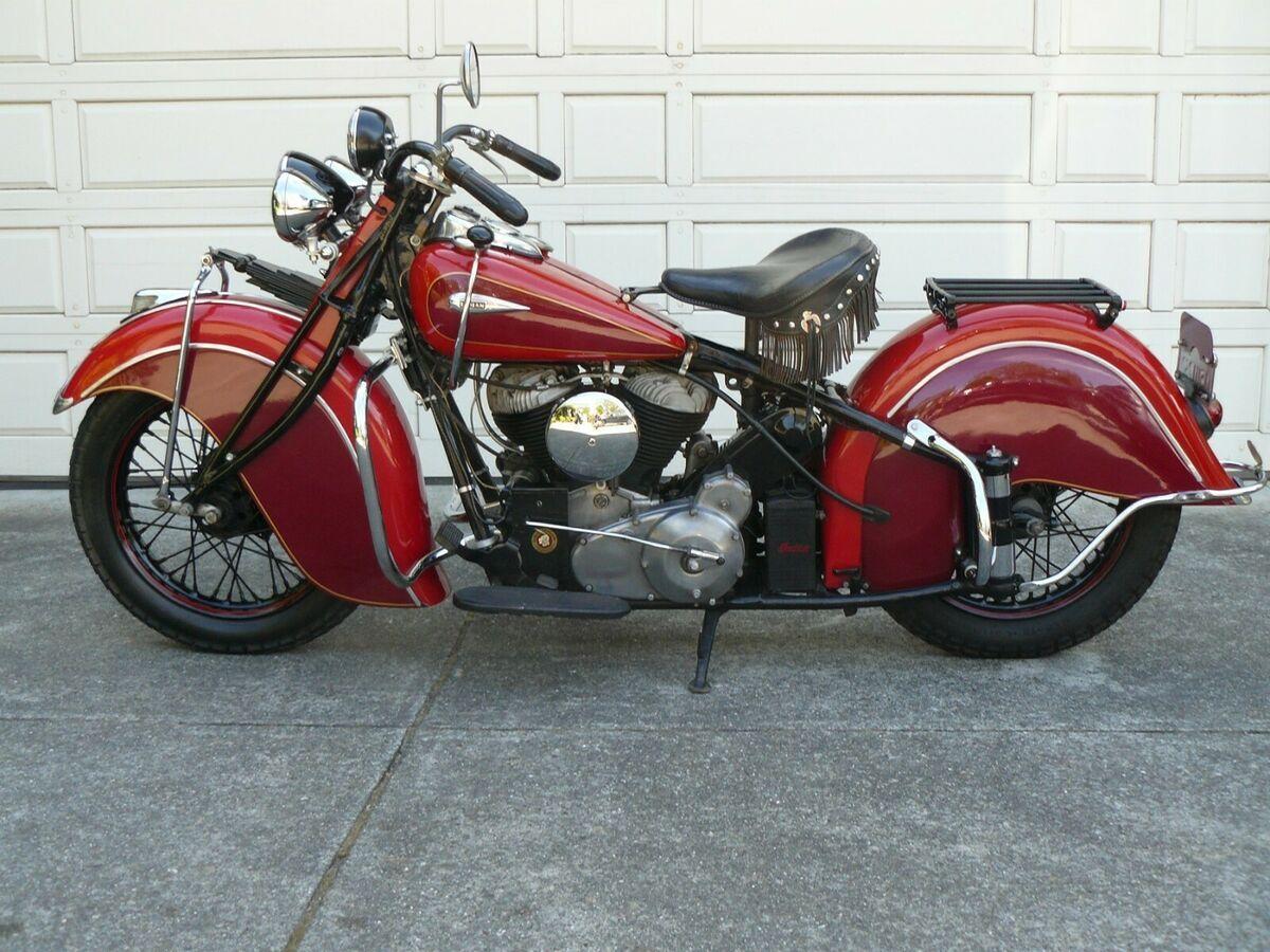 1940 Indian Chief Vintage Motorcycle For Sale Via Rocker Rocker Co Indian Chief Classic Vintage Motorcycles For Sale Brat Bike