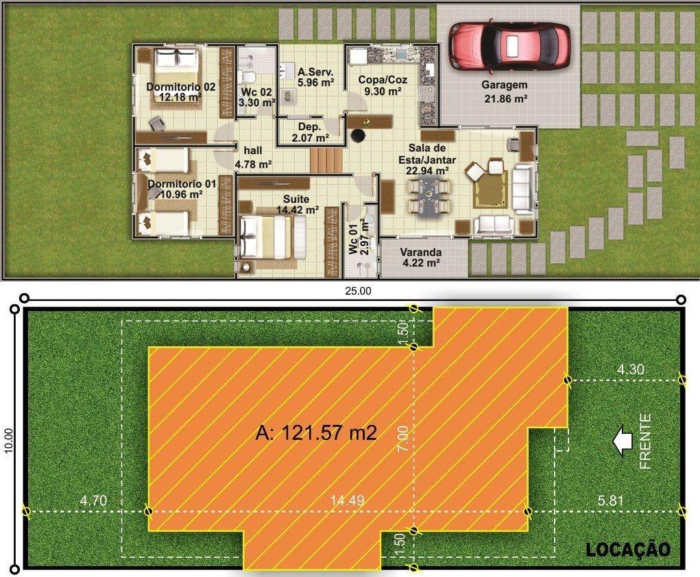 Projetar Casas Planta De Casa T Rrea Com 2 Quartos E 1 Su Te