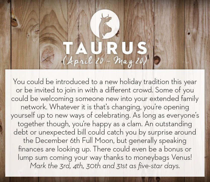 December 2014 #horoscopes #taurus