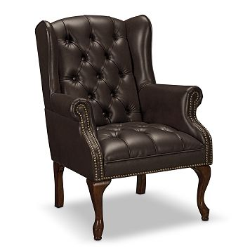Best Cheshire Leather Accent Chair Furniture Com Brown 400 x 300